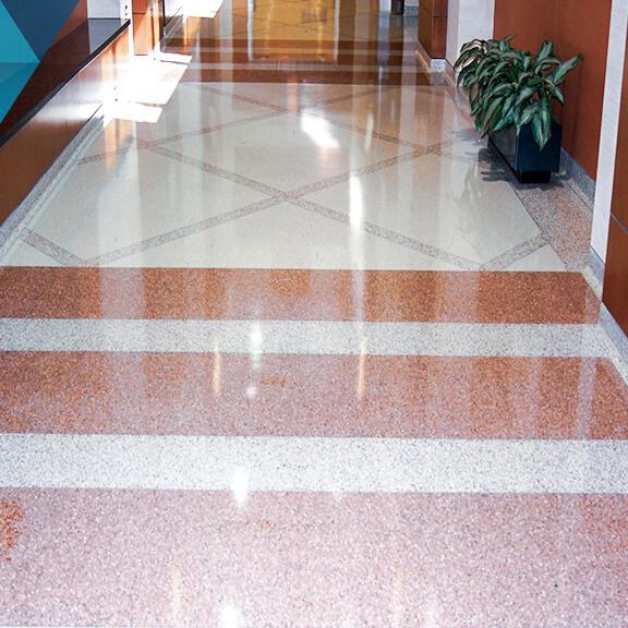 glossy terrazzo coating